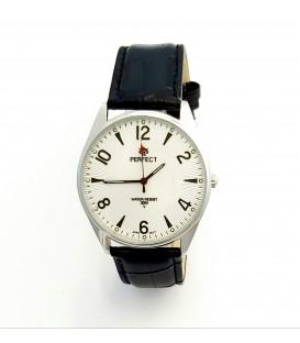 Zegarek Perfect C141 srebrny tarcza srebrna cyfry black