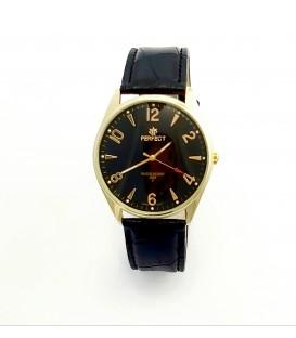 Zegarek Perfect C141 złoty tarcza czarna