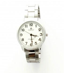 Zegarek PF P168 TARCZA SREBRNA CYFRY CZARNE
