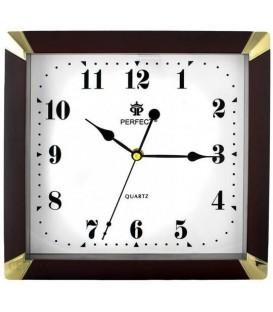 Zegar ścienny analogowy Perfect ME 17 brązowy