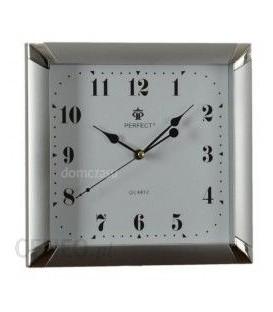 Zegar ścienny analogowy Perfect ME 17 srebrny