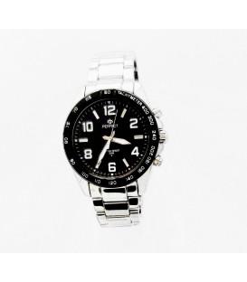 Zegarek PF M107 srebrna bransoleta,białe cyfry