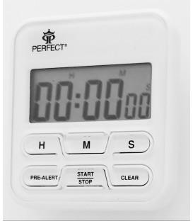 Minutnik LCD Perfect TM 83 biały