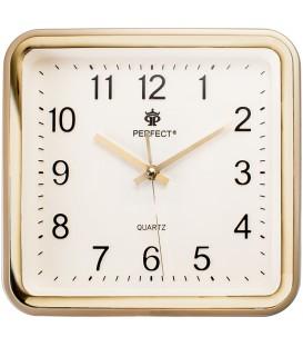 Zegar ścienny analogowy Perfect PW 159  złoty