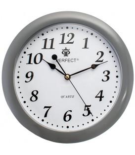Zegar ścienny analogowy Perfect LA 17 szary Ø 28