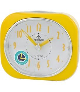 Budzik kwarcowy Perfect PT220 żółty