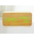 Budzik XONIX GHY-018 jasnobrązowy z zielonym wyświetlaczem