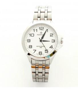 Zegarek PF R412 METAL TARCZA BIAŁACYFRY CZARNE