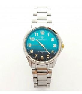 Zegarek PF P425  METAL  TARCZA NIEBIESKA
