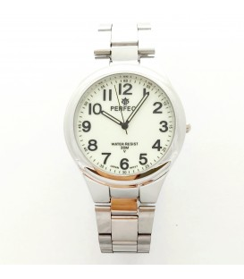 Zegarek PF P425  METAL  TARCZA SREBRNA