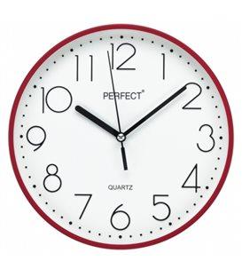 Zegar ścienny analogowy Perfect FX-5814 Czerwony