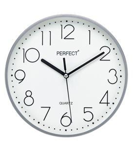 Zegar ścienny analogowy Perfect FX-5814 Srebrny