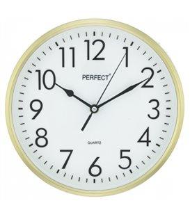 Zegar ścienny analogowy Perfect FX-5742 Złoty
