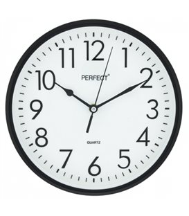 Zegar ścienny analogowy Perfect FX-5742 Czarny