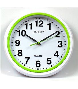 Zegar ścienny analogowy Perfect FX-5841 Zielony
