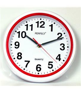 Zegar ścienny analogowy Perfect FX-5841 Czerwony