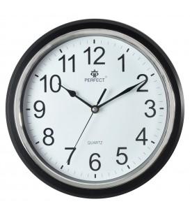 Zegar ścienny analogowy Perfect FX-5842 Czarny