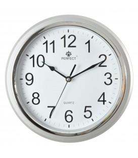 Zegar ścienny analogowy Perfect FX-5842 Srebrny