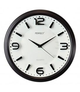 Zegar ścienny analogowy Perfect FX-6200 Czarny