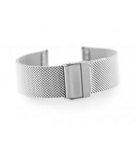 Bransoleta Siatka JK srebrna od 18-24mm - splot 0,6mm z zabezpieczeniem