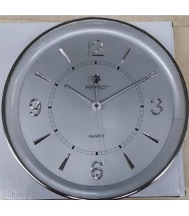 Zegar ścienny analogowy Perfect PW 164 srebrny Ø 35.0