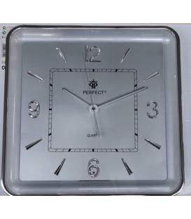 Zegar ścienny analogowy Perfect PW 165 SILVER srebrna tarcza