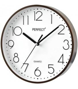 Zegar ścienny analogowy Perfect FX-5814 Brązowy