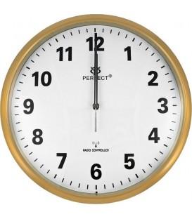 Zegar ścienny analogowy Perfect HT 954 D3 Złoty Ø 30.5