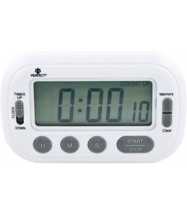 Minutnik LCD Perfect TM 89 BIAŁY