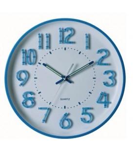 Zegar ścienny analogowy Perfect PW 253 Niebieski Ø 34