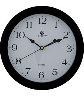 Zegar ścienny analogowy Perfect LA 17 Czarny Ø 28