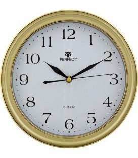 Zegar ścienny analogowy Perfect LC 17 Złoty