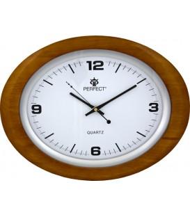 Zegar ścienny analogowy Perfect PW 998 BRĄZ