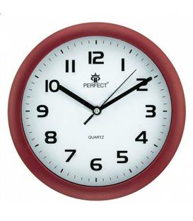 Zegar ścienny analogowy Perfect Czerwony