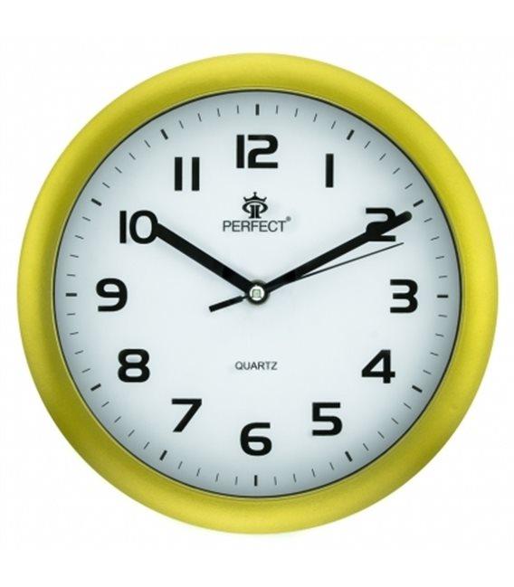 Zegar ścienny analogowy Perfect 7130 Żółty