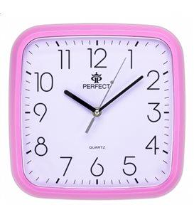 Zegar ścienny analogowy Perfect FX-5792 Różowy Ø 25