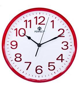 Zegar ścienny analogowy Perfect GWL 683 Czerwony Ø 25