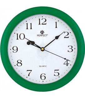 Zegar ścienny analogowy Perfect LA 17 Zielony