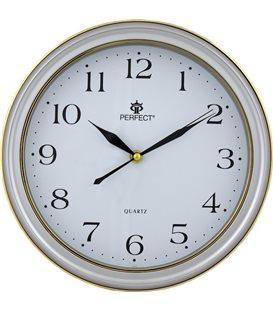 Zegar ścienny analogowy Perfect LC 17 Srebrny