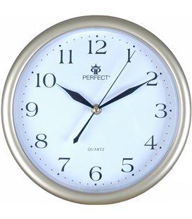 Zegar ścienny analogowy Perfect MP 17 Złoty