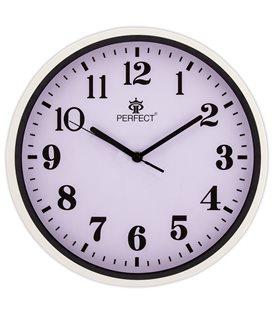 Zegar ścienny analogowy Perfect N12 Czarny