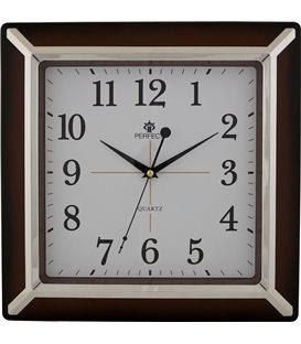 Zegar ścienny analogowy Perfect PW 012 Ciemny brąz