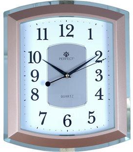Zegar ścienny analogowy Perfect PW 013 Zielono/złoty