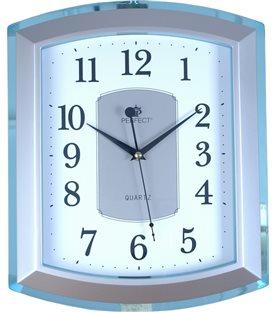 Zegar ścienny analogowy Perfect PW 013 Niebieski/srebrny WYS-36,SZER-30
