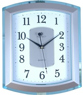 Zegar ścienny analogowy Perfect PW 013 Niebieski/srebrny