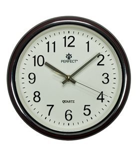 Zegar ścienny analogowy Perfect PW 158 Brązowy Ø 28