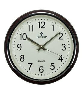 Zegar ścienny analogowy Perfect PW 158 Brązowy