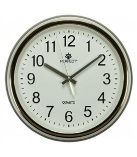 Zegar ścienny analogowy Perfect PW 158 Złoty