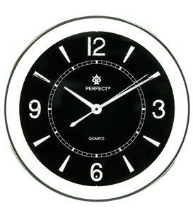 Zegar ścienny analogowy Perfect PW 164 Czarny Ø 35.0