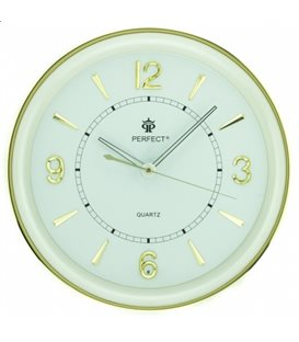 Zegar ścienny analogowy Perfect PW 164 Złoty Ø 35.0